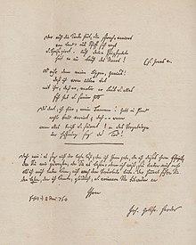 Brief des jungen Herder an den Schriftsteller J. G. Hamann (1764) (Quelle: Wikimedia)