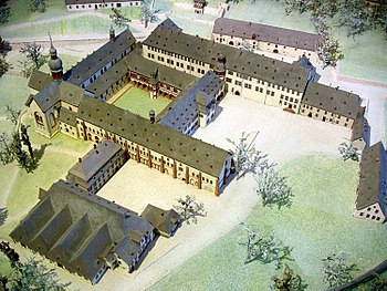 Model of the Eberbach Monastery