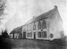 Das Haus, in dem der Schwarze Herzog starb (Foto um 1890) (Quelle: Wikimedia)
