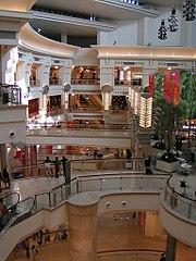 Blick in das Einkaufszentrum