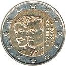 2 Euro commemorative coin Luxembourg 2009.jpg