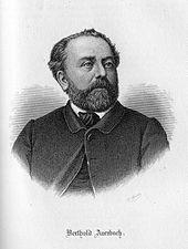 Berthold Auerbach, Stich von Veit Froer 1884 (Quelle: Wikimedia)