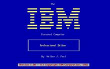 Einer der ersten texteditoren mit erweiterten funktionen für den ibm