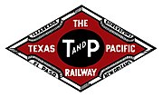 Logo der Texas Pacific Railroad