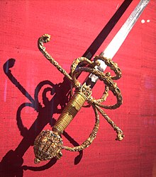 Prunkdegen Kaisers Maximilian II. (Hofjagd- und Rüstkammer Wien) (Quelle: Wikimedia)