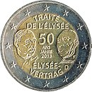 2 Euro Germany 2013 Élysée Treaty.jpg