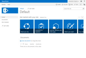 Standard-Teamsite in SharePoint 2013