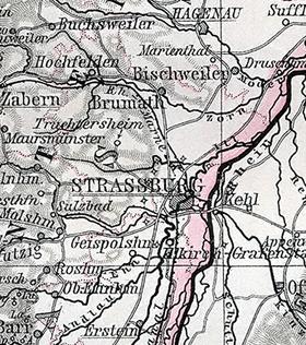 Bildergebnis für straßburg umgebung kolbsheim historische karte