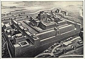 Rekonstruktion des Tempels von Herodes d.Gr., siehe auch das große Modell in Jerusalem