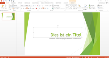 Screenshot von PowerPoint 2013