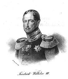 Friedrich Wilhelm III., nach Franz Krüger (Lithographie von Wilhelm Devrient). (Quelle: Wikimedia)
