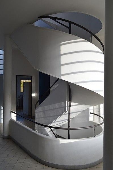 datei villa savoye treppe jpg wikipedia. Black Bedroom Furniture Sets. Home Design Ideas
