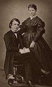 Joseph Joachim und seine Gattin Amalie in Hannover, Winter 1863/64 (Quelle: Wikimedia)