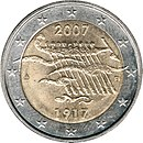 Commemorative coin Finland 2007 Independence.jpg
