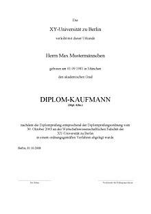Diplom Kaufmann Wikipedia