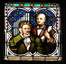 Beethoven und Bruckner. Fenster im Neuen Dom in Linz (Quelle: Wikimedia)