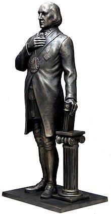 Rekonstruktion der durch die Nazis zerstörten Schröder-Statue im Logenhaus Welckerstraße in Hamburg. (Quelle: Wikimedia)