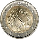 2 Euro commemorative coin San Marino 2009.jpg
