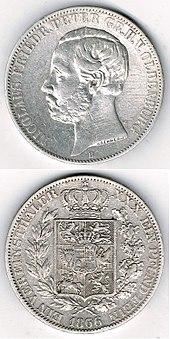 Vereinstaler Oldenburg 1866 (Quelle: Wikimedia)