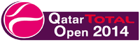 "Logo des Turniers ""Qatar Total Open 2014"""