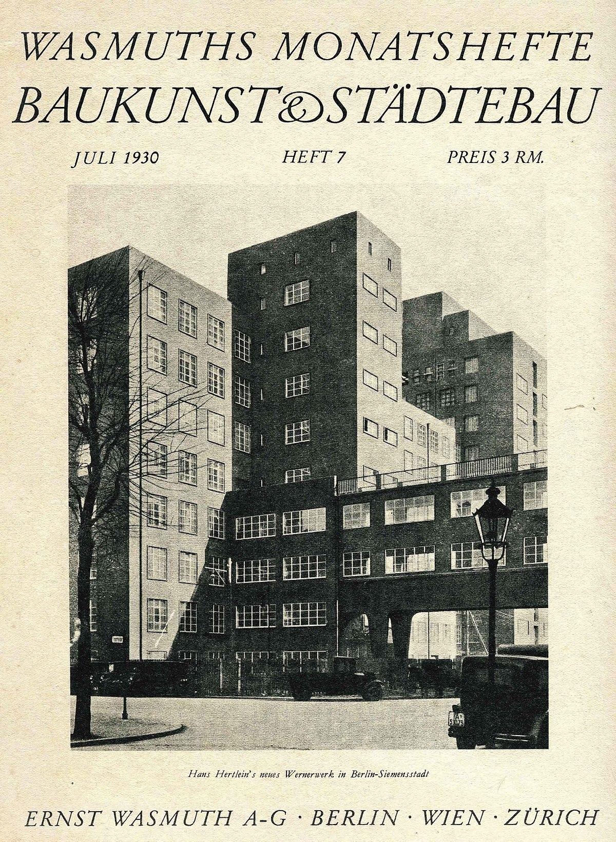 Wasmuths Monatshefte F R Baukunst Wikipedia