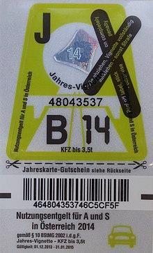 Autobahnvignette Wikipedia