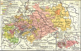 Das Kurfürstentum Sachsen im 18. Jahrhundert (Quelle: Wikimedia)