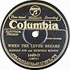 "Schallplattencover ""When the Levee Breaks"" von 1929"