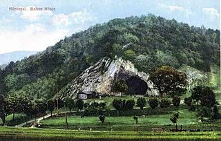 Die Balver Höhle - handkoloriert vor 1900