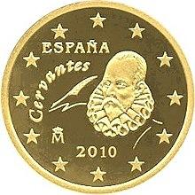 Spanische 50-Cent-Münze (Quelle: Wikimedia)