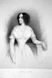 Anna Löwe, Lithographie von August Prinzhofer, 1846 (Quelle: Wikimedia)