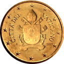10 cents Vatican 5th series