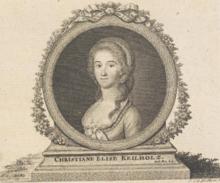Christiane Keilholz, spätere Haßloch, Kupferstich von Johann Christian Gottfried Fritzsch, um 1792 (Quelle: Wikimedia)
