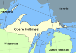 Karte von Obere Halbinsel – Upper Peninsula (of Michigan)
