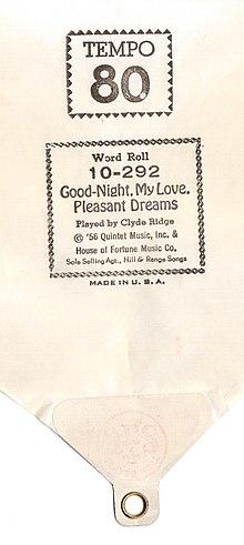 Goodnight My Love Pleasant Dreams Wikipedia