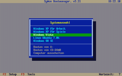 Screenshot von SyMon Bootmanager