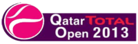 "Logo des Turniers ""Qatar Total Open 2013"""