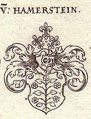 Das Wappen der Familie von Hammerstein (Quelle: Weigel'sches Wappenbuch von 1734)