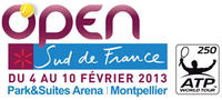 "Logo des Turniers ""Open Sud de France 2013"""