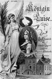 Königin Luise. Ein Lebensbild. Titelseite, um 1905 (Quelle: Wikimedia)