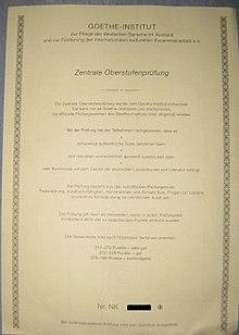 Goethe Zertifikat C2 Wikipedia