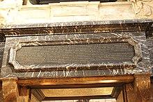 Inschrift des Grabes (Quelle: Wikimedia)