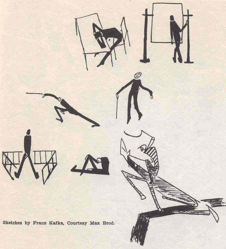 Franz Kafkas Zeichnungen in transition, Nr. 27 (1938)