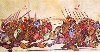 Tsar Simeon defeats the Byzantines at Acheloj