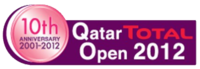 "Logo des Turniers ""Qatar Total Open 2012"""