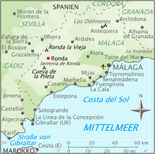 Malaga Karte Spanien.Ronda Wikipedia