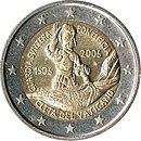 2 Euro commemorative coin Vatican 2006.jpg