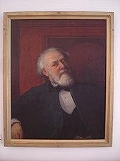 Ölporträt von German von Bohn (1812–1899), einem Jugendfreund Auerbachs, 1880 in Stuttgart entstanden. Leihgabe des Schiller-Nationalmuseums an das Berthold-Auerbach-Museum in Horb-Nordstetten (Quelle: Wikimedia)