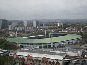 King Baudouin Stadium in October 2008 (as seen from the Atomium)