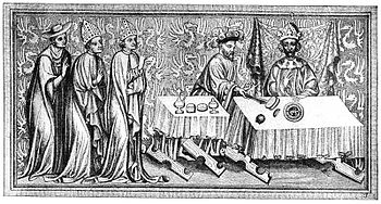 Charles IV at the coronation meal